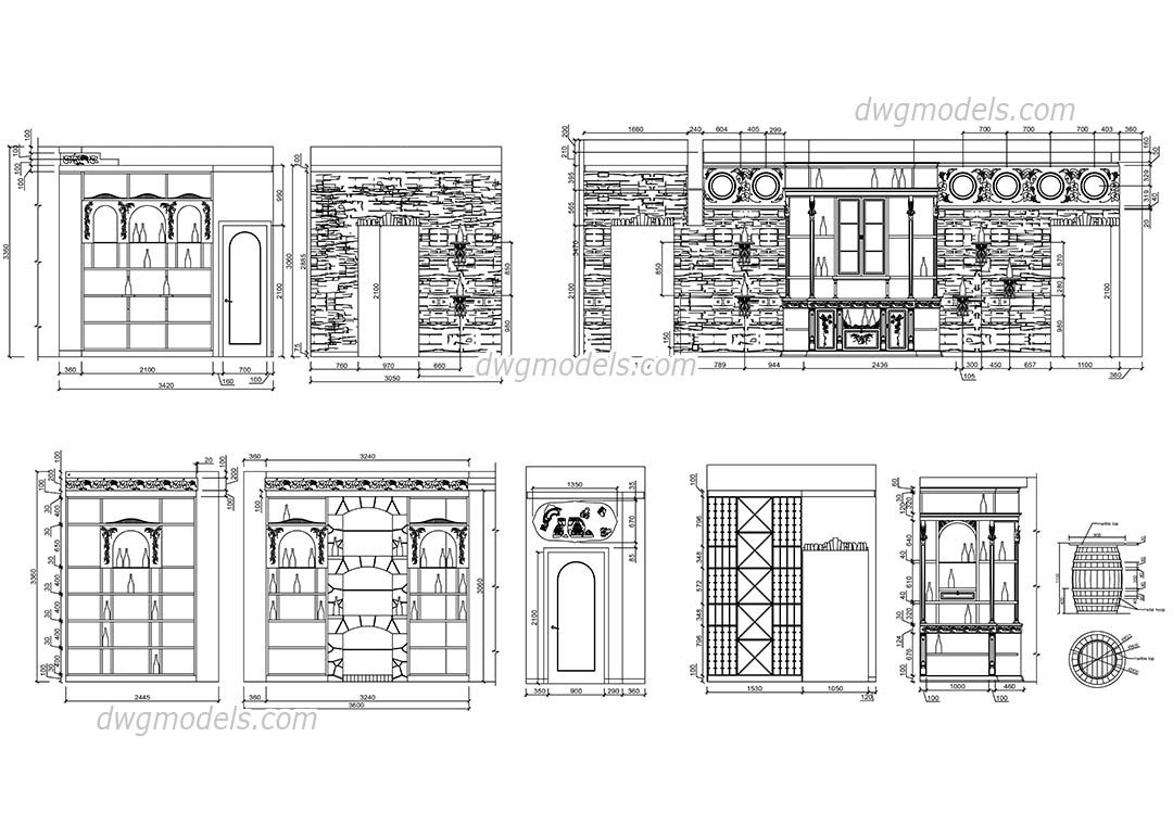 Free cad floor plans dwg for Cad house