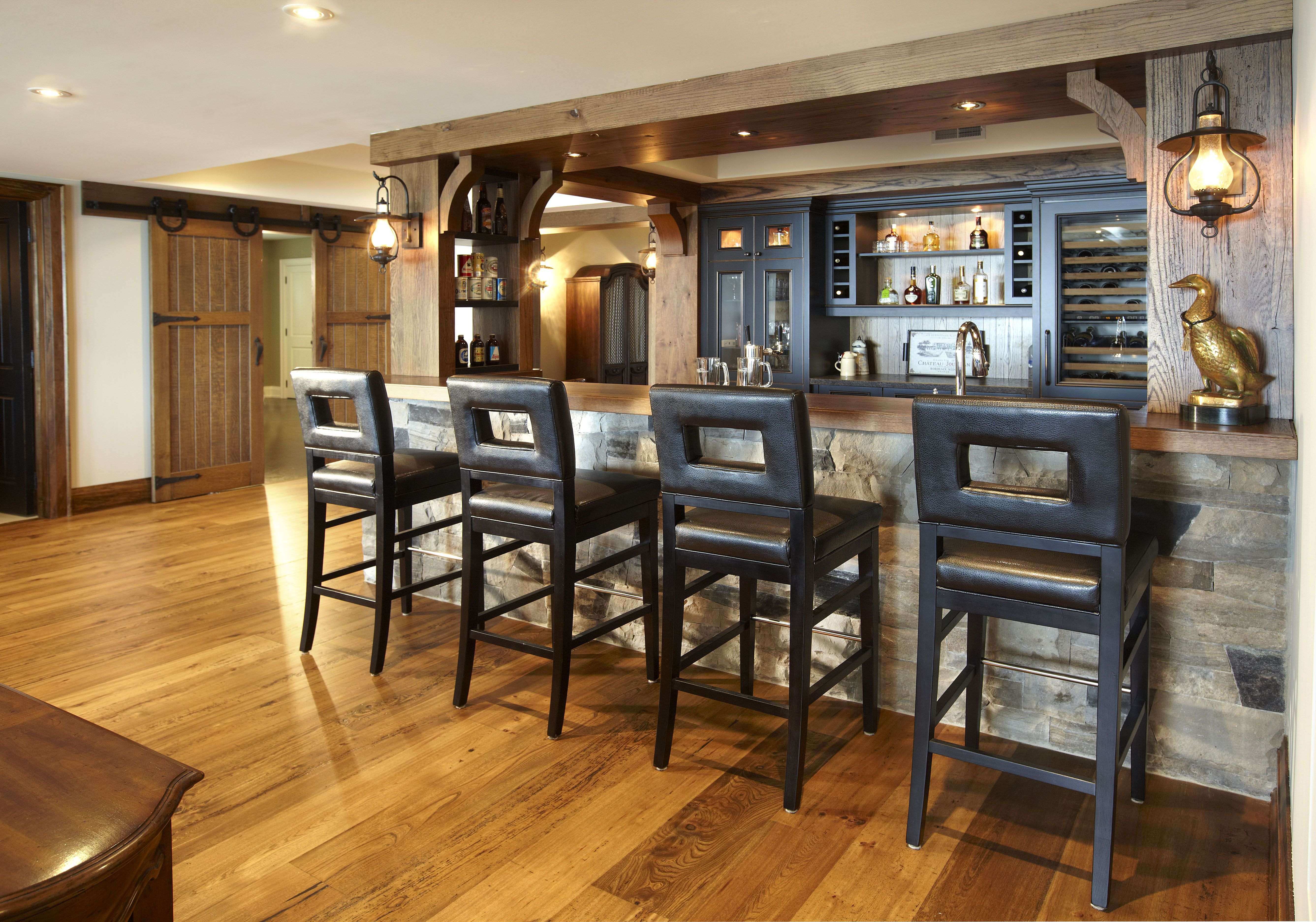 Rustic Style Bar A Rustic Style Bar By