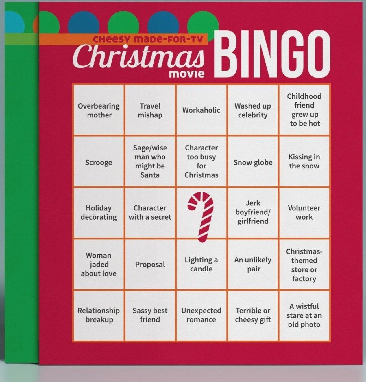A fun game to play while watching cheesy Christmas movie marathons  A great gift idea for friends  #christmasmovies #christmas #giftideas #christmasgames