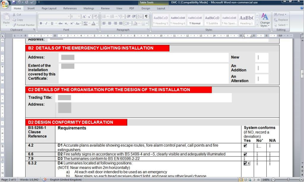 Electrical Installation Test Certificate Template 4 Templates Example Templates Example