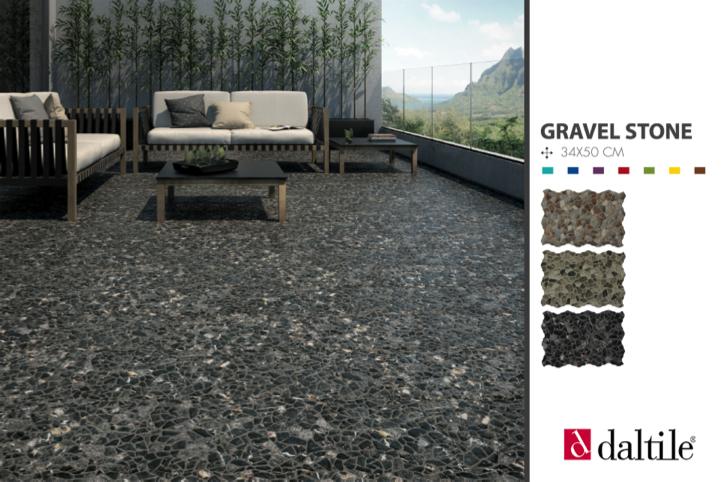 Con un diseño que evoca a la naturaleza y materiales de la mejor calidad, conseguimos el balance que hace lucir tus espacios. Conoce Gravel stone. http://www.daltile.com.mx/gravelstone