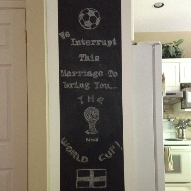 We interrupt this marriage to bring you the World Cup!