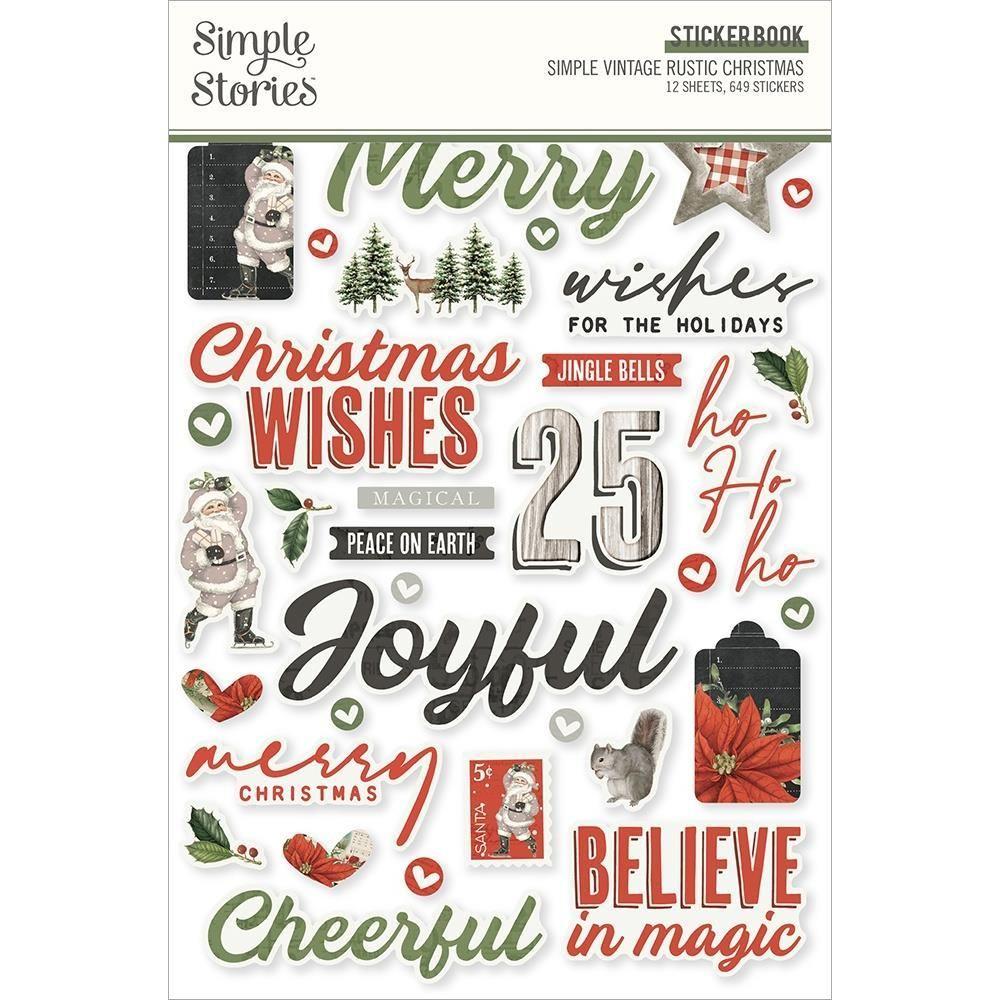 Simple Stories - Sticker Book - Simple Vintage Rustic Christmas
