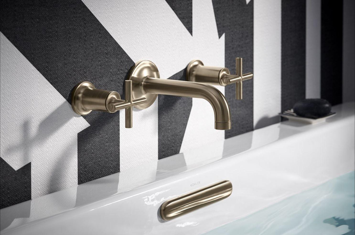 Kohler Purist Wall Mount Bath Filler Damask Bathroom Wall Mount Faucet Bathroom Wall Mount Faucet Bathroom Sink