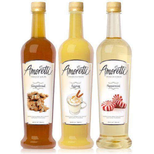 Amoretti Premium Syrups Christmas 3 Pack