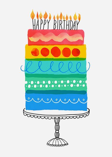 Margaret Berg Art: Layer Cake Birthday