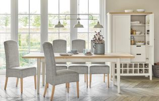 Buxton 6 8 Seater Extending Dining Table Solid Oak Top With Painted Legs From Next