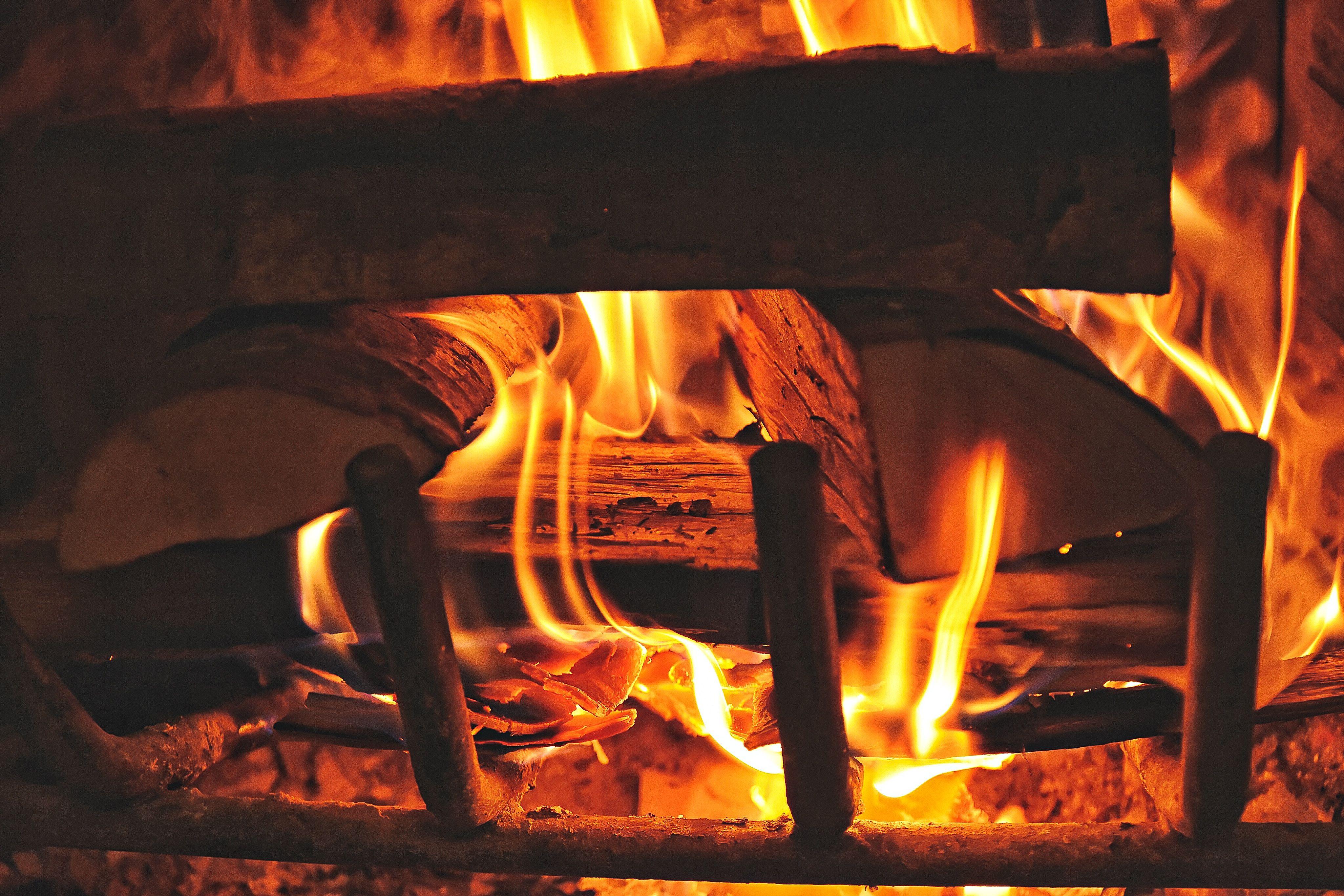 Fire Fireplace Firewood Wallpaper Fireplace Background