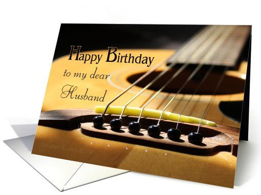 Happy Birthday Husband Guitar Photograph Card Happybirthdayhusband