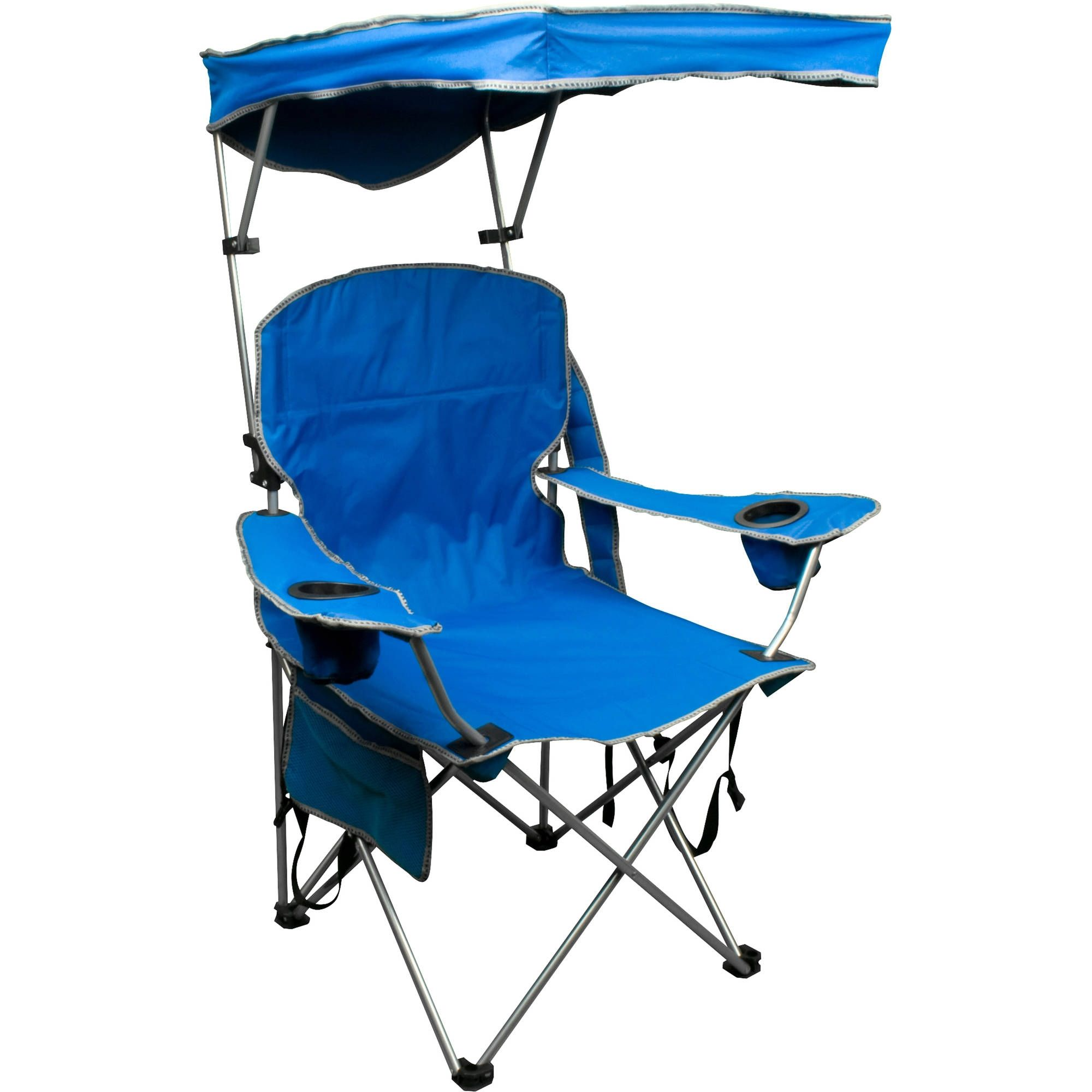 Folding Camp Chair With Canopy Shade Cover