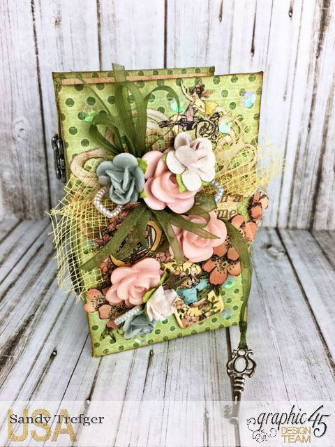Mini Trunk Book Album, Once Upon a Springtime, by Sandy Trefger, Product by Graphic 45 Photo 1
