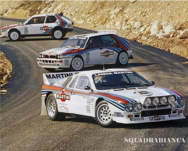Lancia Group B contenders (and the WRC Delta HF).