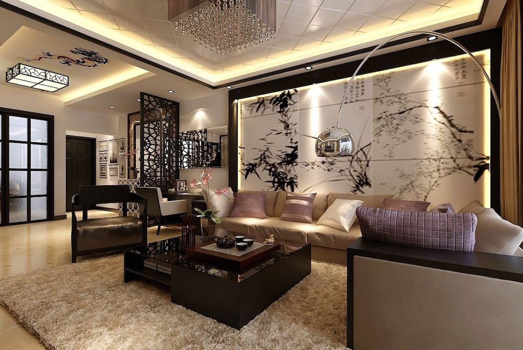 Азиатский стиль Японский Oriental Living Room