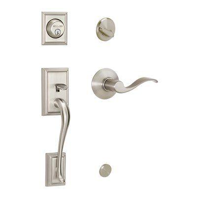 Delightful Schlage Addison/Accent Residential Single Lock Front Door Handleset   320804