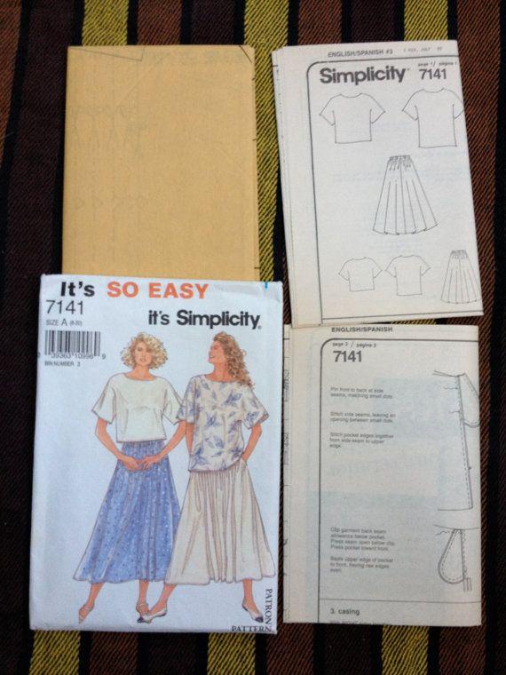 Vintage 1990's Simplicity 7141 Misses' Top & by ElkHugsVintage, $4.50