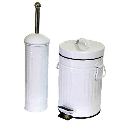Sidco Bad Set Toilettenburste Wc Burste Kosmetikeimer Mulleimer 3 L Metall Kosmetikeimer Wc Set Toilettenburste