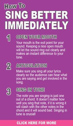 Tips to help you sing better immediately. For more free ...