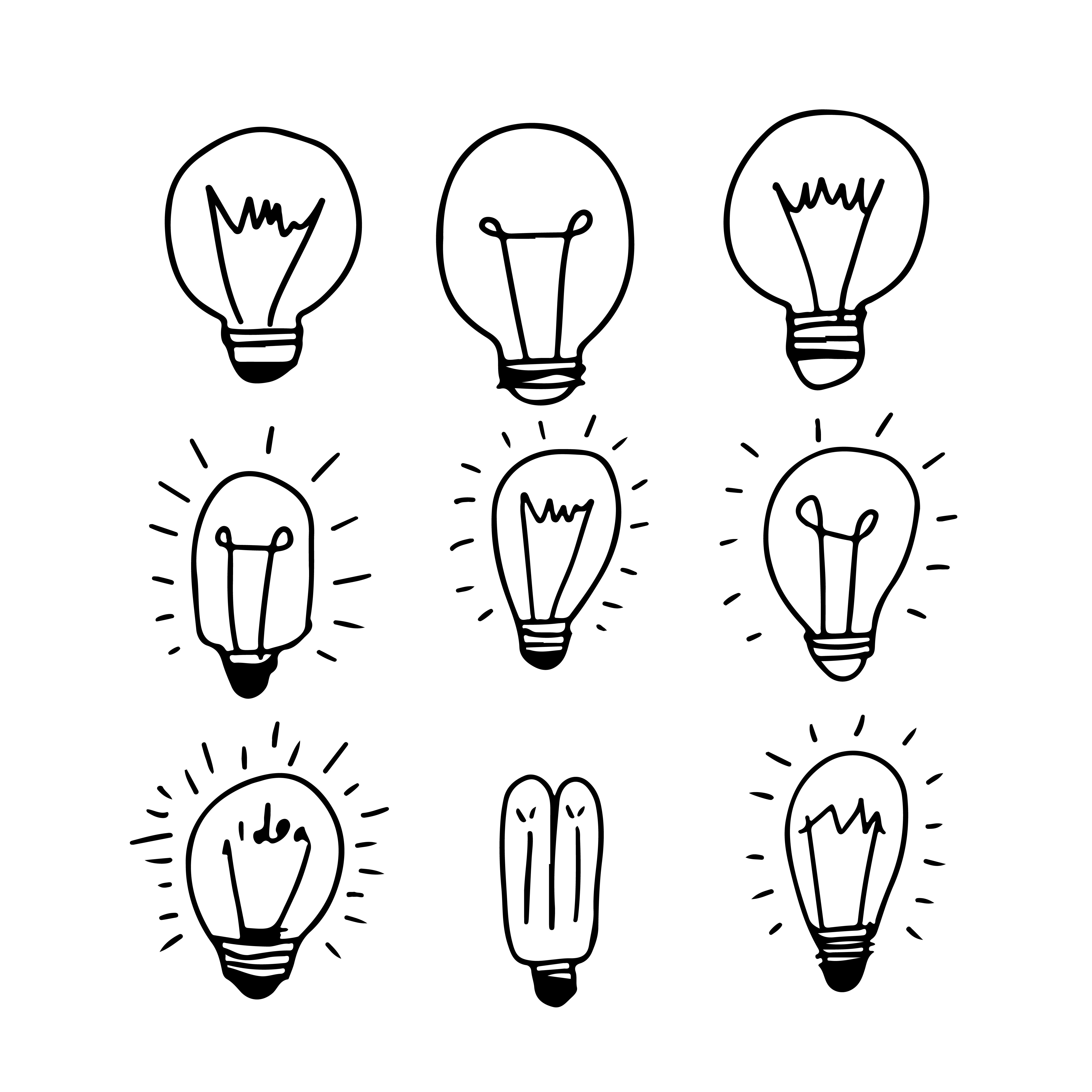 Hand drawn light bulb icon How to draw hands, Light bulb
