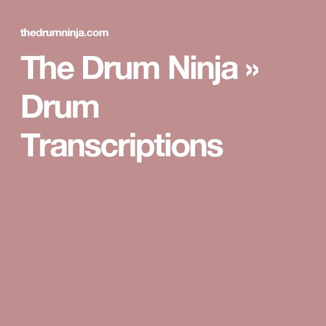 Drum Transcriptions Drums Transcription Drums Sheet