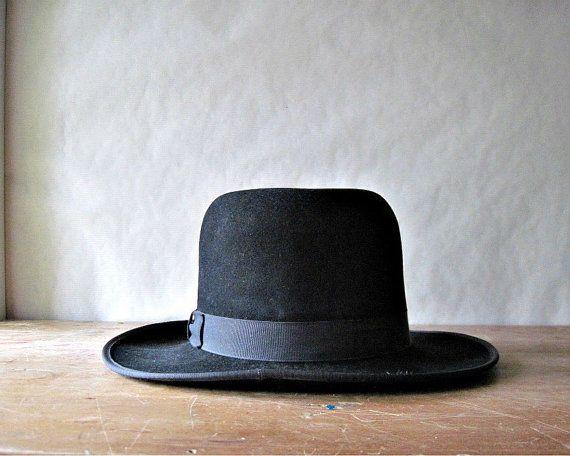 Amish Mennonite Black Hat Fedora Open Road Hat Men Women Amish Fashion Trend Goth Punk Hats For Men Black Fedora Vintage Clothes Shop