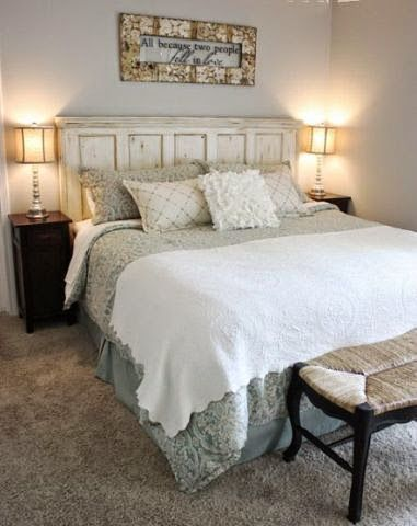 Recycled Door Transform An Old Into A Rustic Chic Headboard Would You Like This Style In Your Bedroom DIY