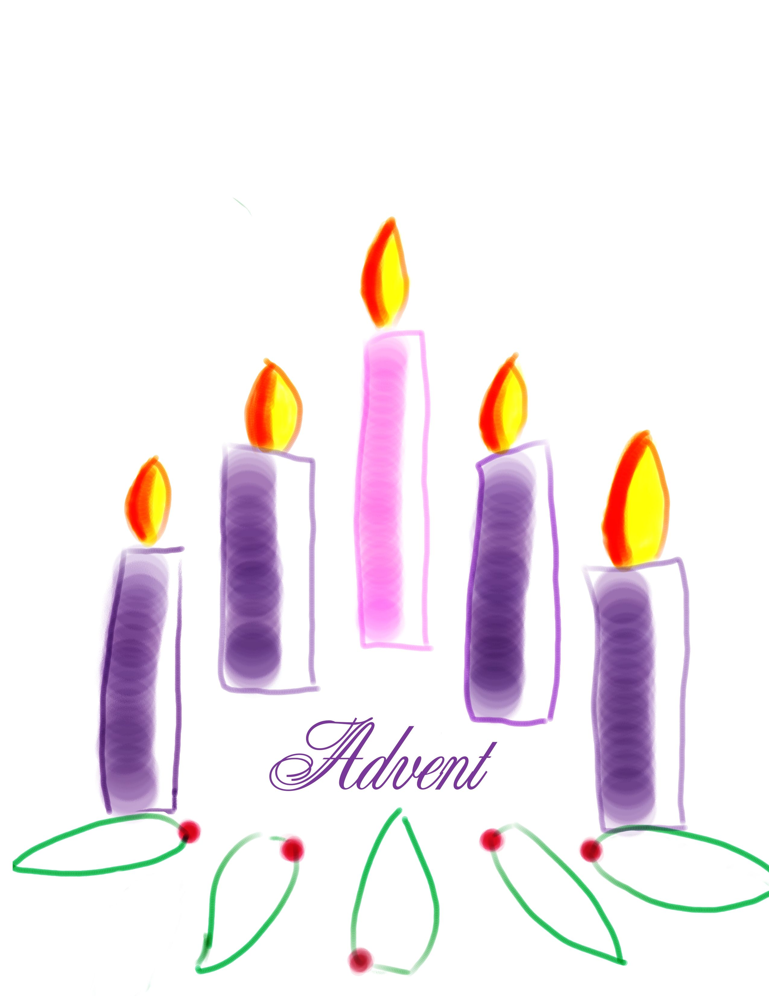 traditional advent wreath has purple and pink candles which clipart [ 2550 x 3300 Pixel ]
