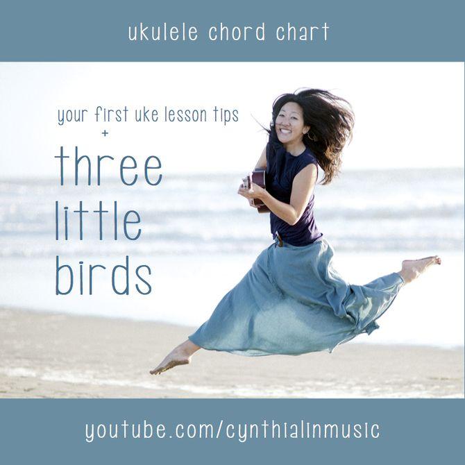 YOUR FIRST UKE LESSON - THREE LITTLE BIRDS Beginner Ukulele Chord - ukulele chord chart