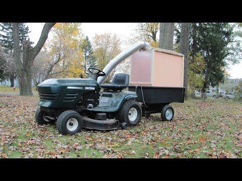 Home Made Lawn Mower Leaf Collector Lawn Mower Lawn Vacuum Diy Lawn