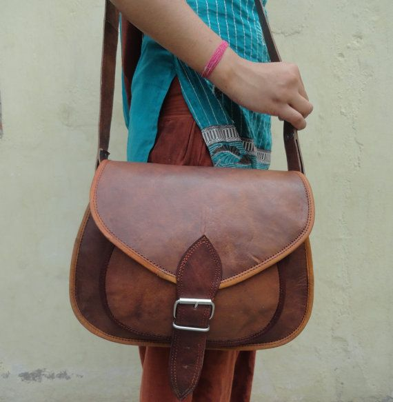 Handmade Leather Ladies Messenger Bag Women's / by vrcreatives, $56.00