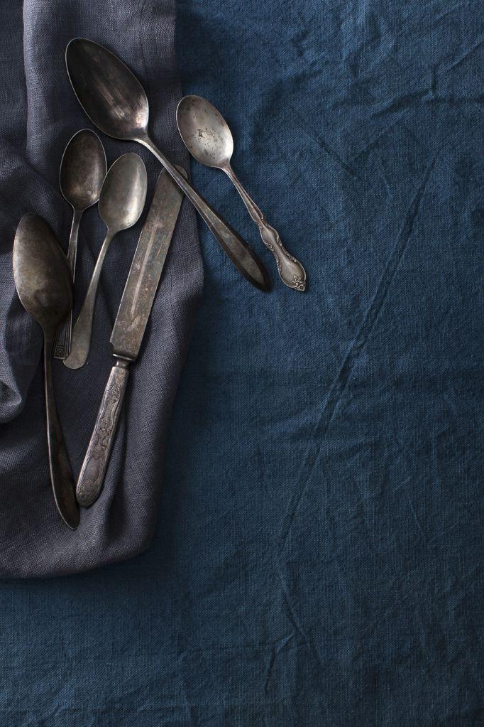 Indigo linen (via Sharon Radisch).  les Couleurs  Pinterest