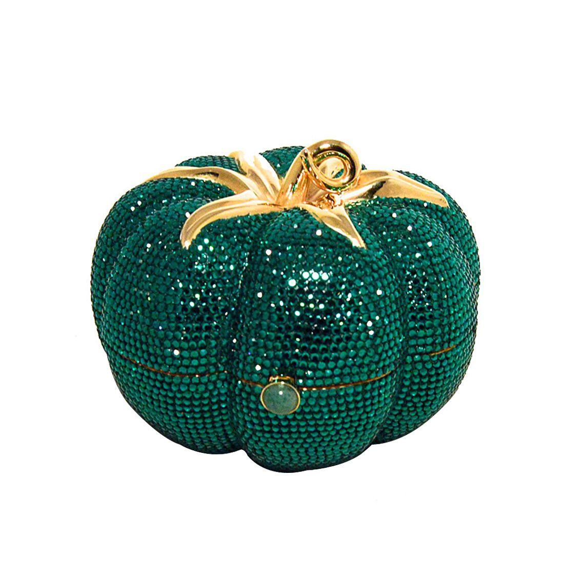 Judith Leiber Swarovski Green Tomato Minaudiere