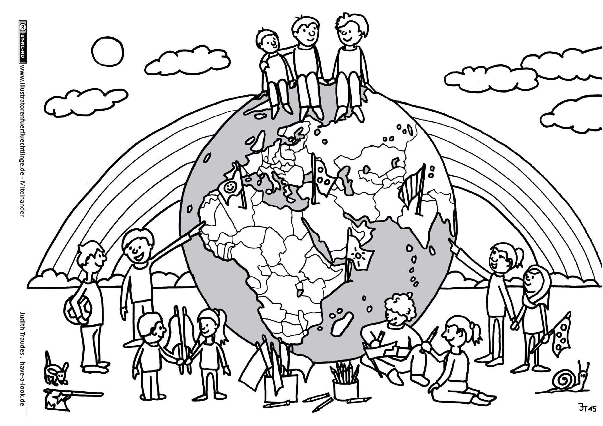 Download als PDF: Miteinander – Welt Malen Frieden – Traudes