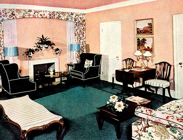 Living Room 1946 1940s Home Decor Vintage Room 1940s Living Room