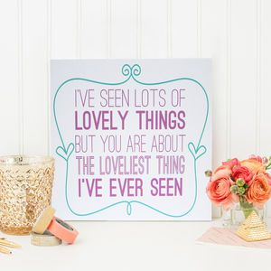 'I've Seen Lovely Things' Card