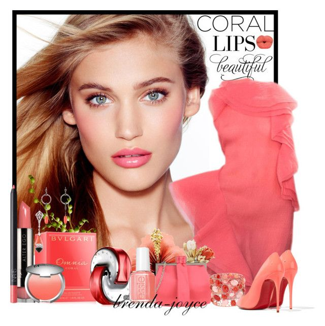 """Coral Lips!"" by brenda-joyce ❤ liked on Polyvore featuring Charlotte Tilbury, Jason Wu, LORAC, Christian Louboutin, Philosophy di Alberta Ferretti, Bulgari, Essie, It Cosmetics, NARS Cosmetics and women's clothing"