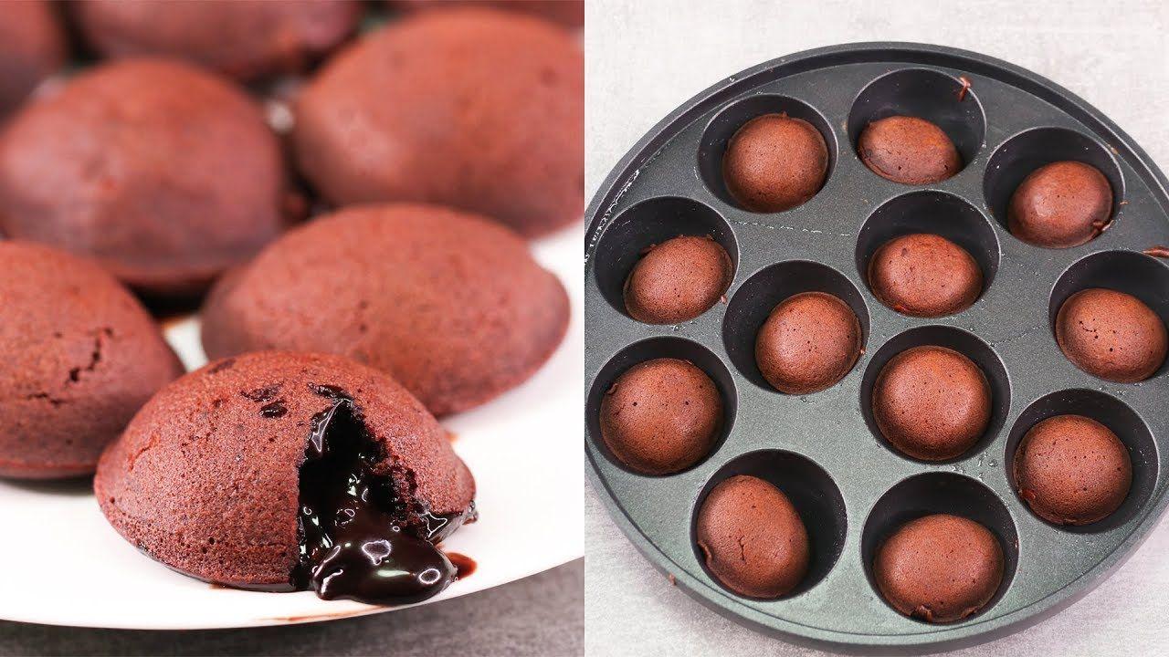 Mini Choco Lava Cake In 10 Min L Eggless Without Oven Youtube Choco Lava Cake Recipe Lava Cake Recipes Lava Cakes