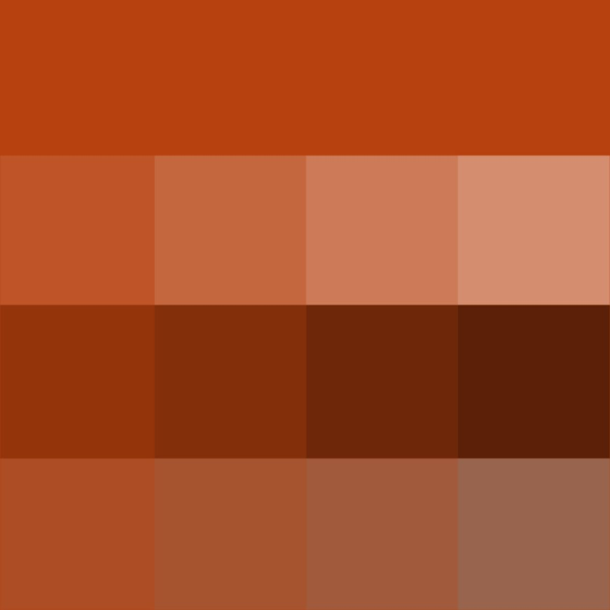 Rust hue tints shades tones hue pure color with for Shades of all colors