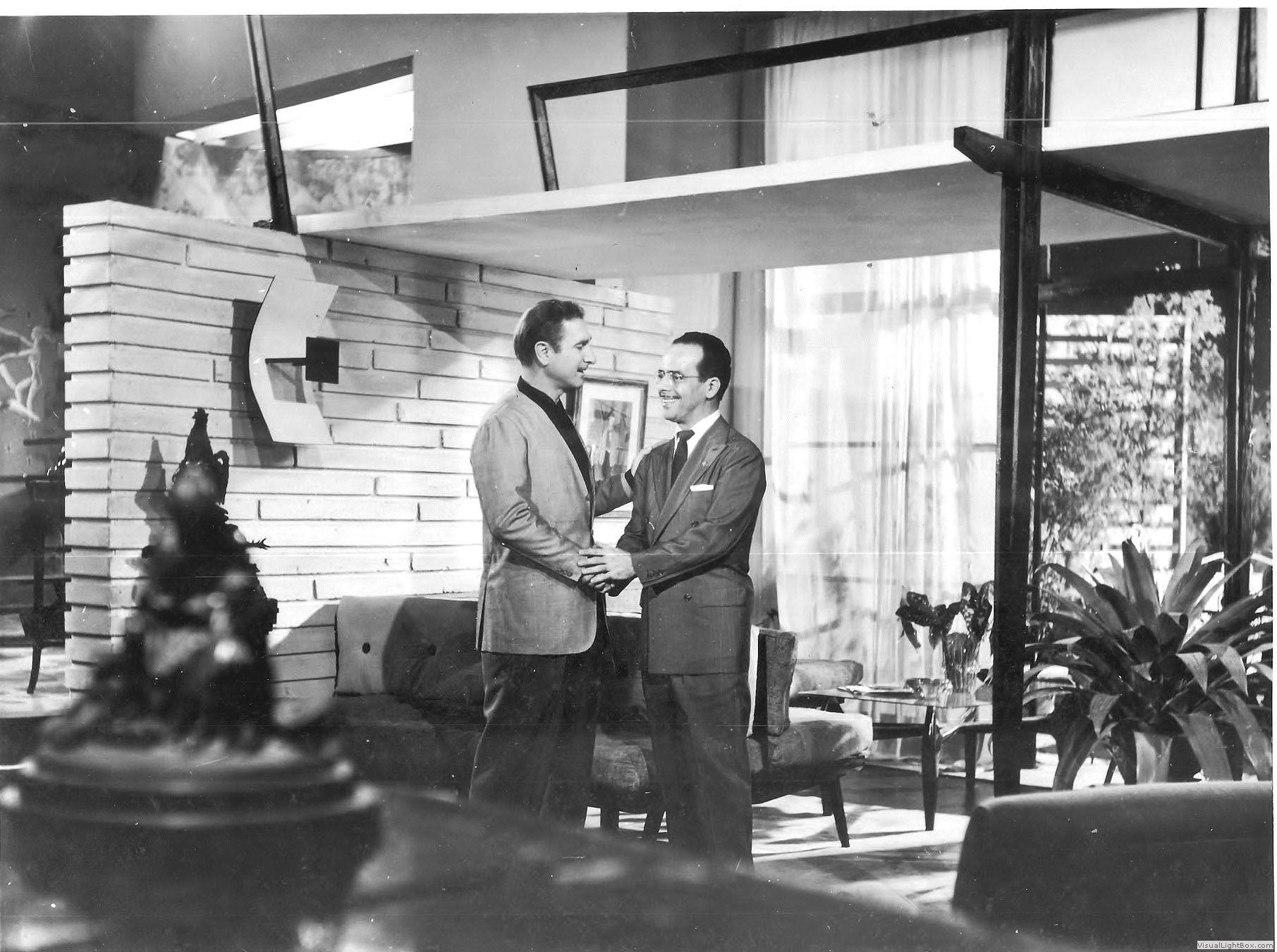 Cena do filme Hoje, O Galo Sou Eu (1959), com Waldir Calmon e Ronaldo Lupo (dirigido por Aluísio T. de Carvalho)