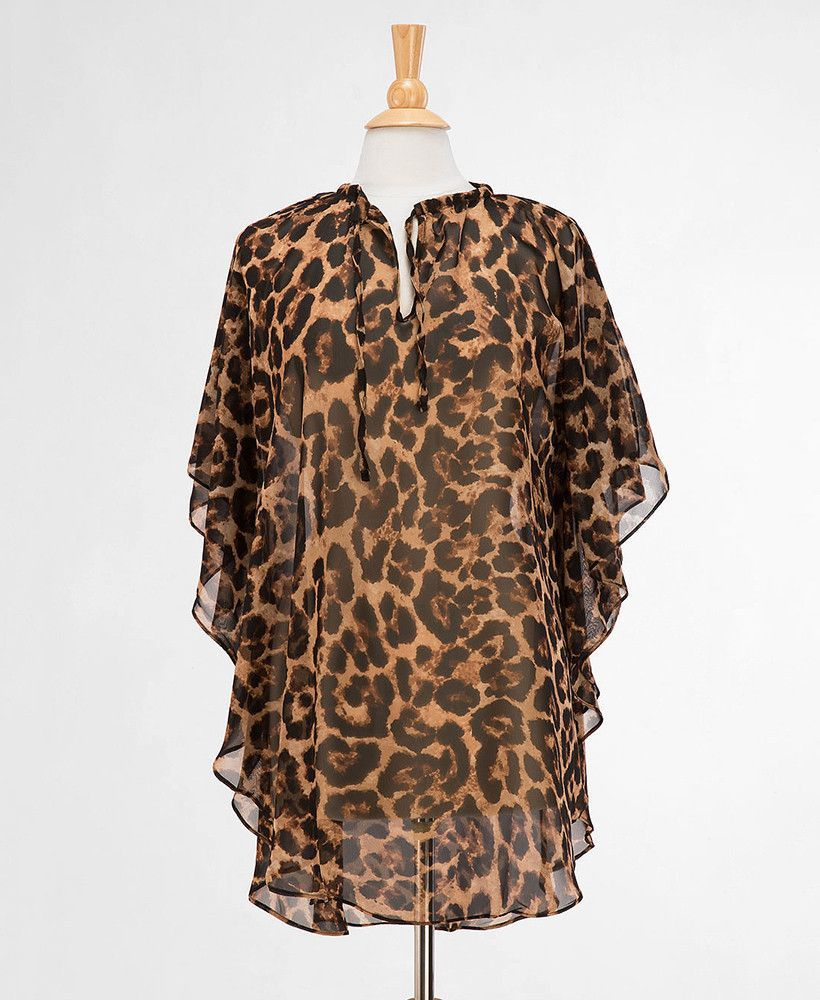 Sheer Leopard Tunic