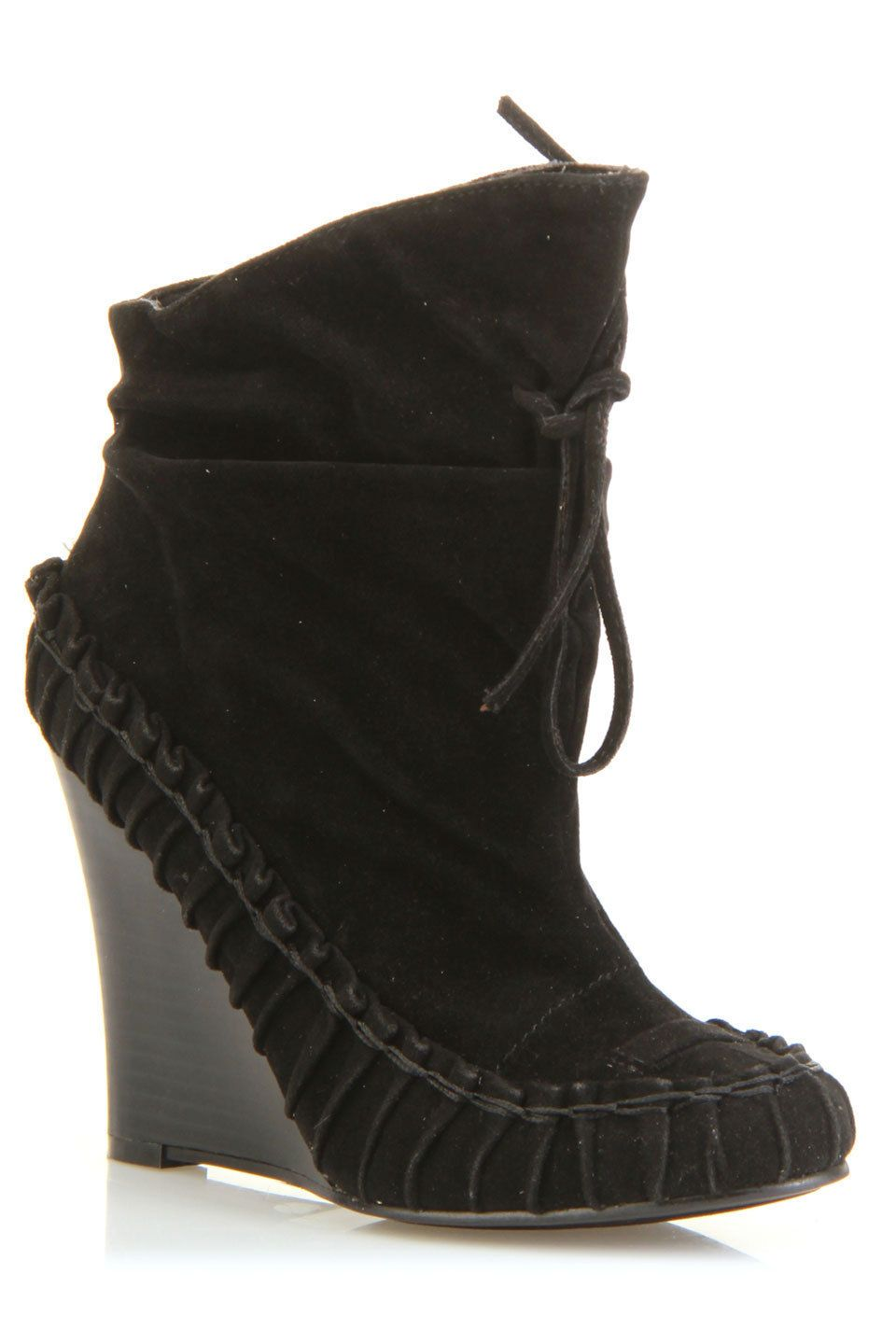 Wedge Booties In Black.