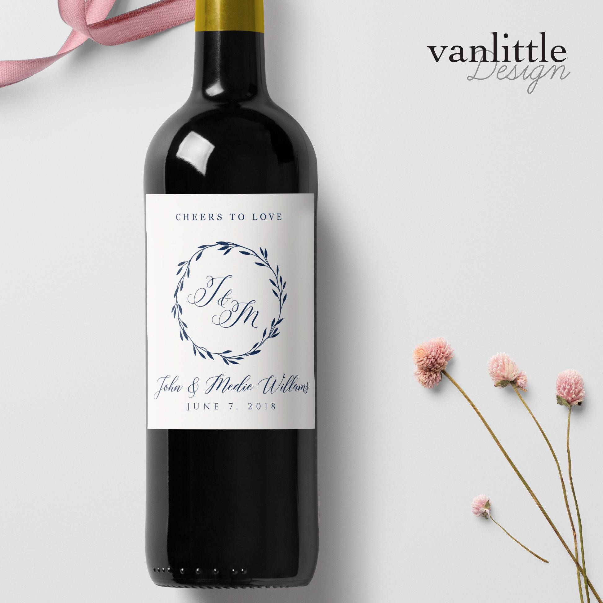 Wedding Wine Labels.Custom Wedding Wine Labels Personalized Wine Label With Elegant