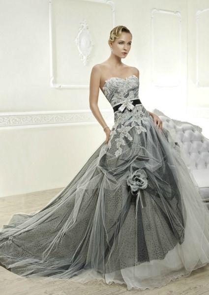 vestido de novia con color para 2014 de cosmobella.   michu