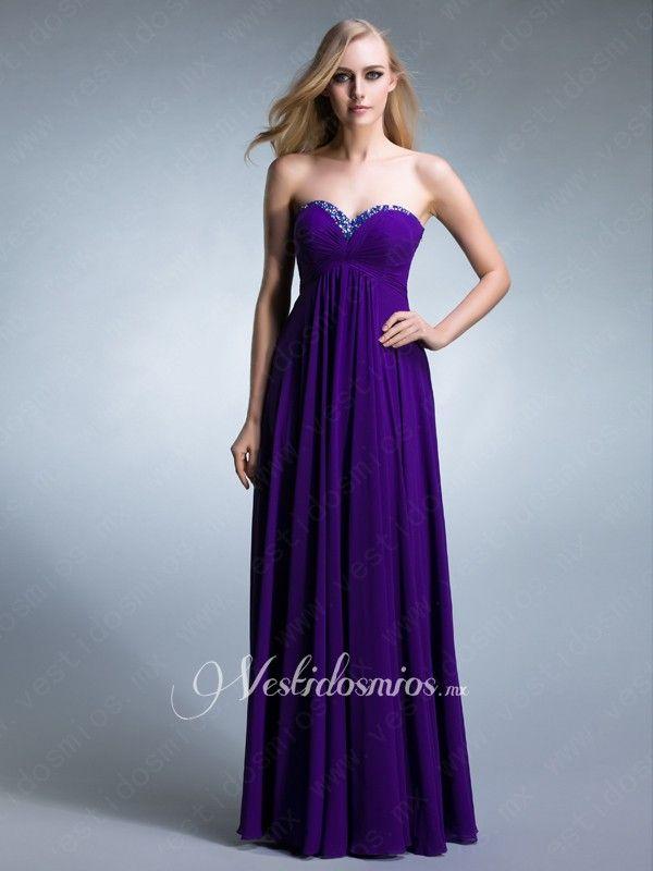 Purple Vestidos de Noche | vestidos | Pinterest | Noche, Vestiditos ...