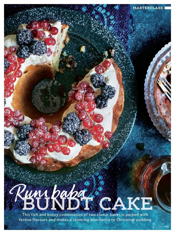 Tesco Magazine Christmas 2016 Sweet Cakes Bundt Cake Rum Cake