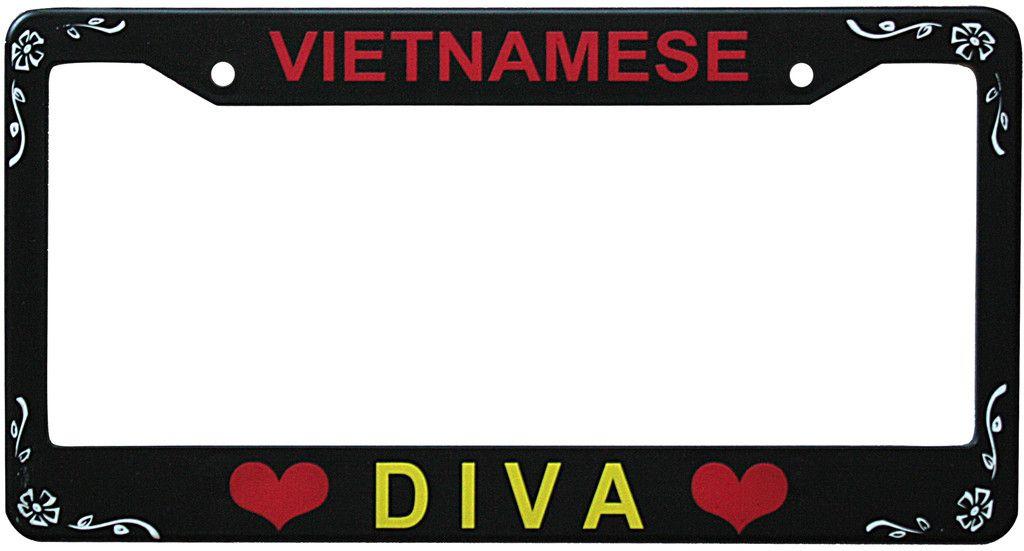 Vietnamese Diva License Plate Frame Bumper Stickers License Plate Frames Plate Frames