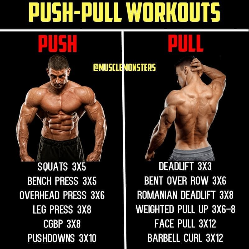 4-Day Push/Pull Workout Routine By @musclemonsters _ Due to the