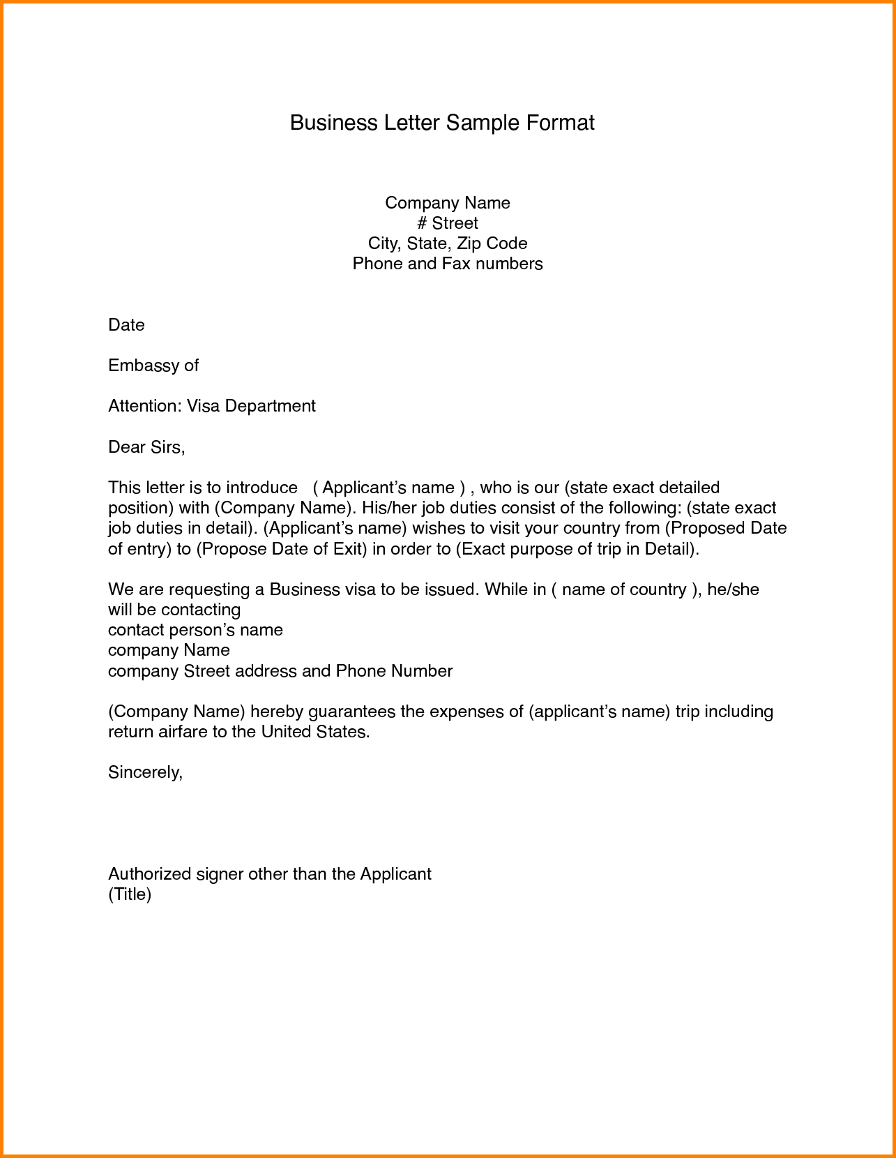 Professional Letter Template Blank Quote Templates Format Business