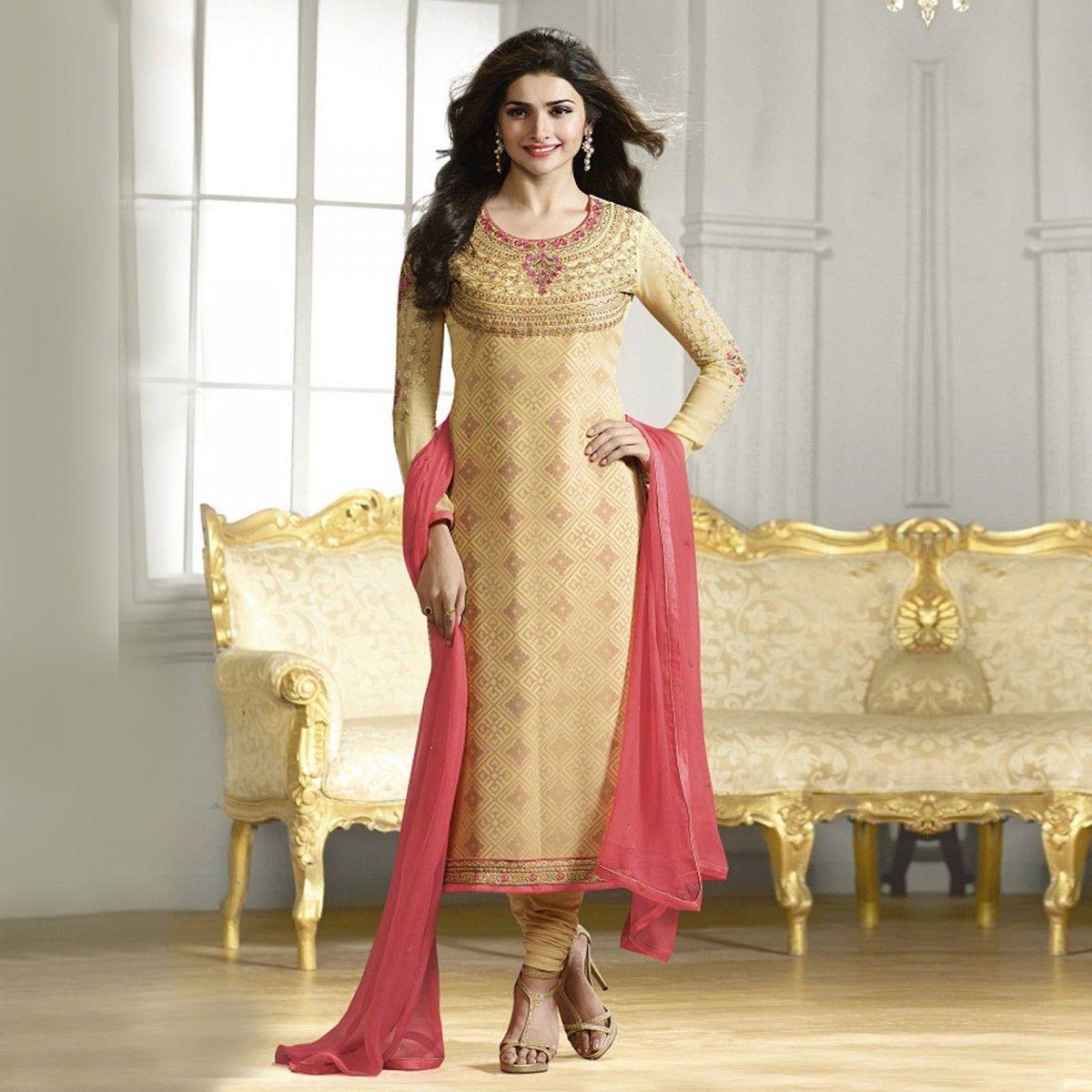 Buy Golden Party Wear Designer Salwar Suit Online Women Ethnic ...