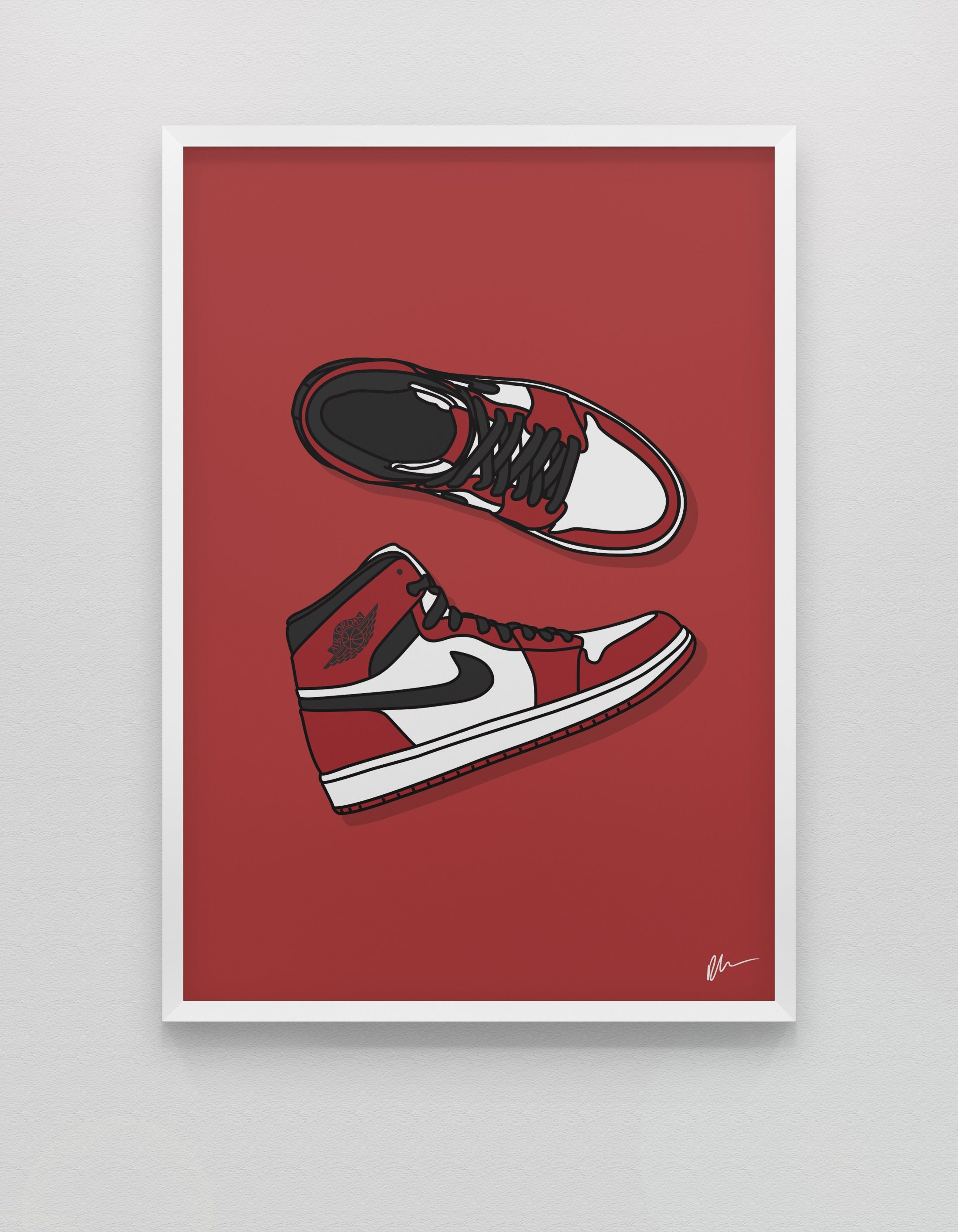 New Jordan 1 Chicago Sneakers Illustration Sneakers Wallpaper Fancy Art