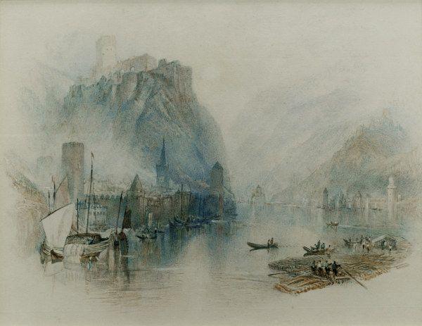 Burgen Am Rhein William Turner Art Art Prints